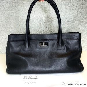 Chanel Re Reissue Small Cert Black Caviar Tote Bag
